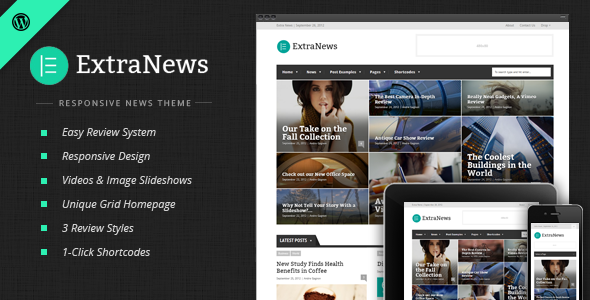 ExtraNews Responsive News and Magazine Theme Version 1.4.8 free