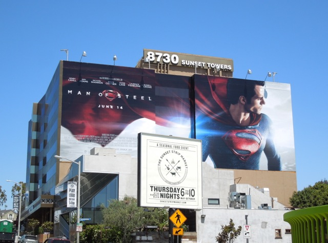 Giant Man of Steel billboard Sunset Strip
