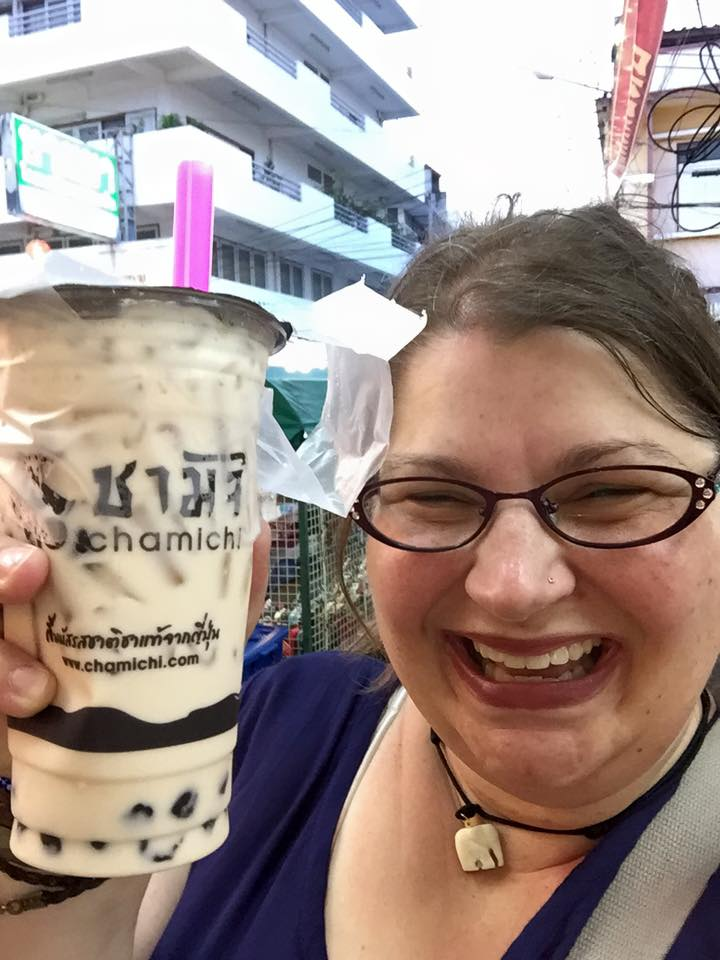 Chamichi Rice Milk Bubble Tea, Hua Hin Thailand 2016