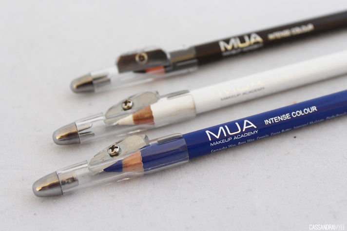 MUA [MAKE UP ACADEMY] // Colour Intense Eyeliner Pencils | Review + Swatches - CassandraMyee