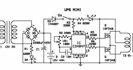 merangkai ups mini dan blok diagram rangkaian ups let's stop gaptek ups schematic circuit schematic diagram ups prolink #6