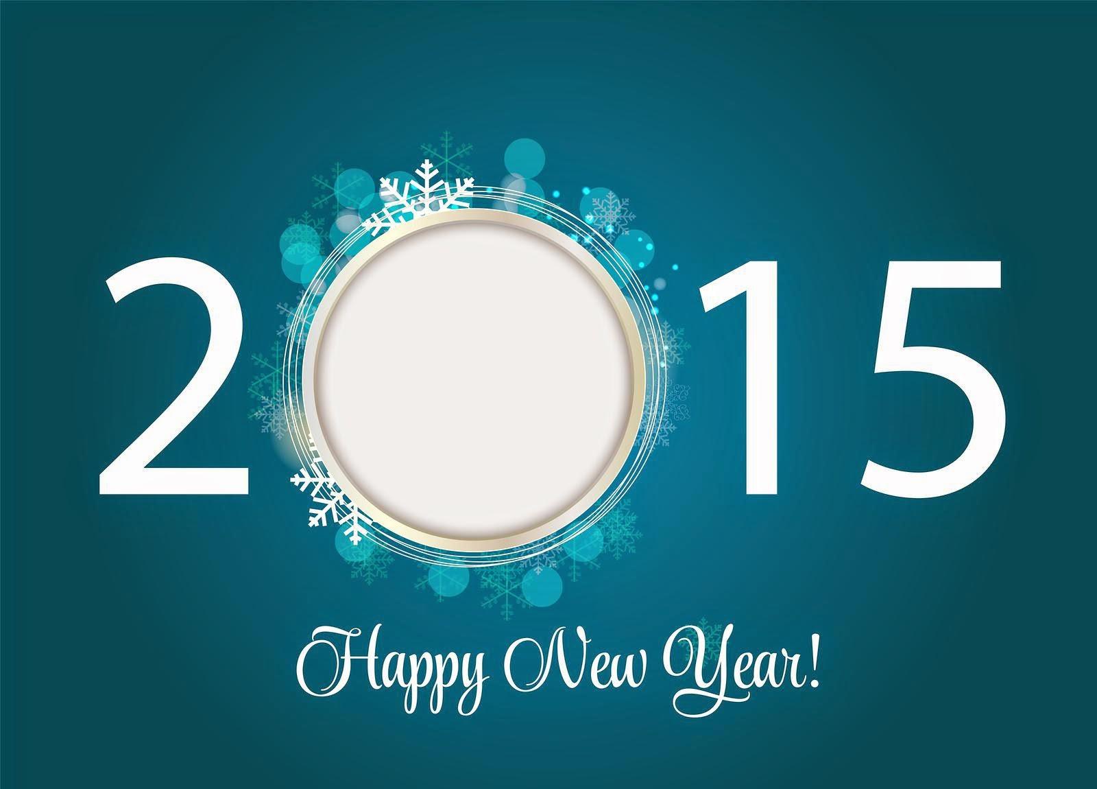Wallpaper Kartu Ucapan Selamat tahun Baru - Happy New Year 2015