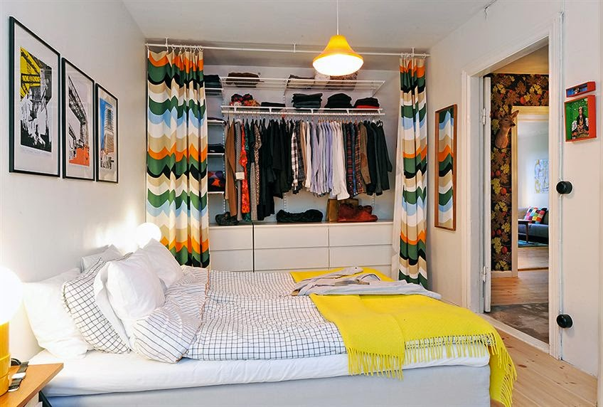 Blog de decora o arquitrecos cortinas nas portas de Rooms without closets creative