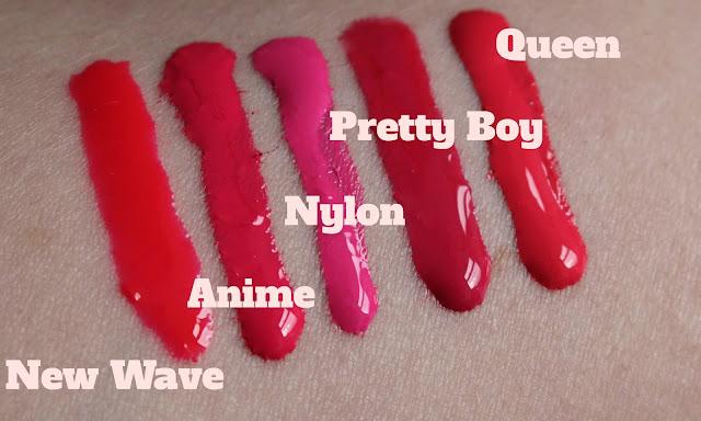 OCC Lip Tars L-R New Wave, Anime, Nylon, Pretty Boy, Queen