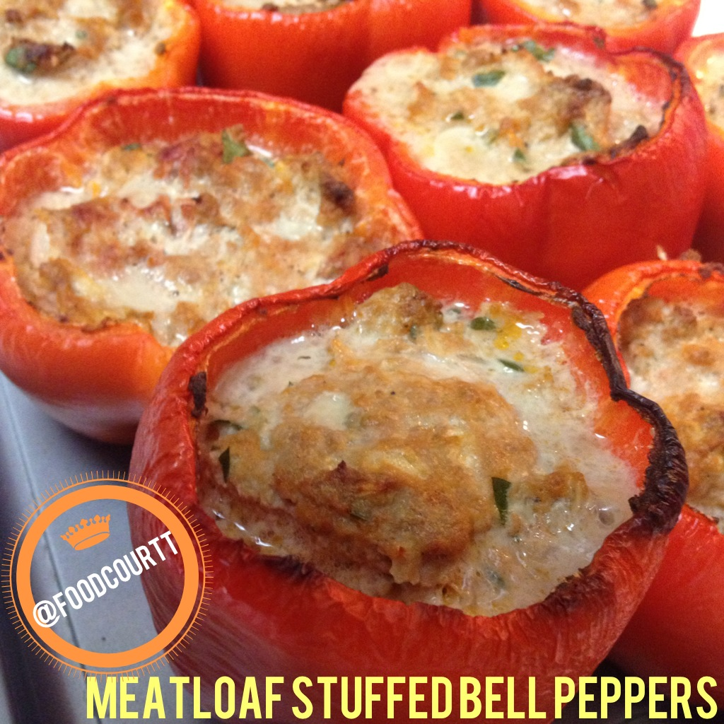 foodCOURTT: Meatloaf Stuffed Bell Peppers