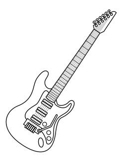 Colorindo e Desenhando Guitarra para Colorir