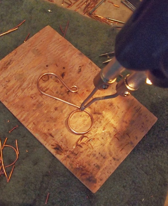 Soldering the copper hook