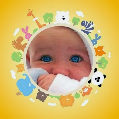 marco de fotos de bebe