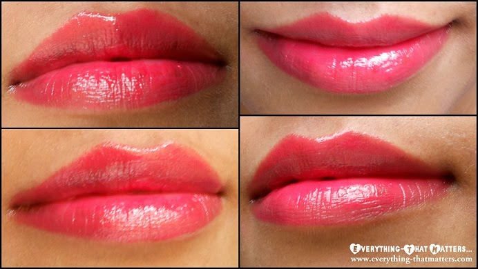 bourjois paris color boost glossy finish lipstick crayon red sunrise swatch review and lotd - Color Boost Bourjois