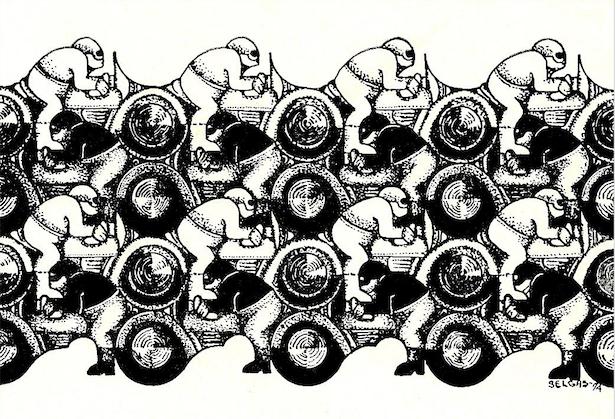 """Bloque motociclo"" / 1974"