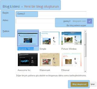 Yeni Blog Oluşturun