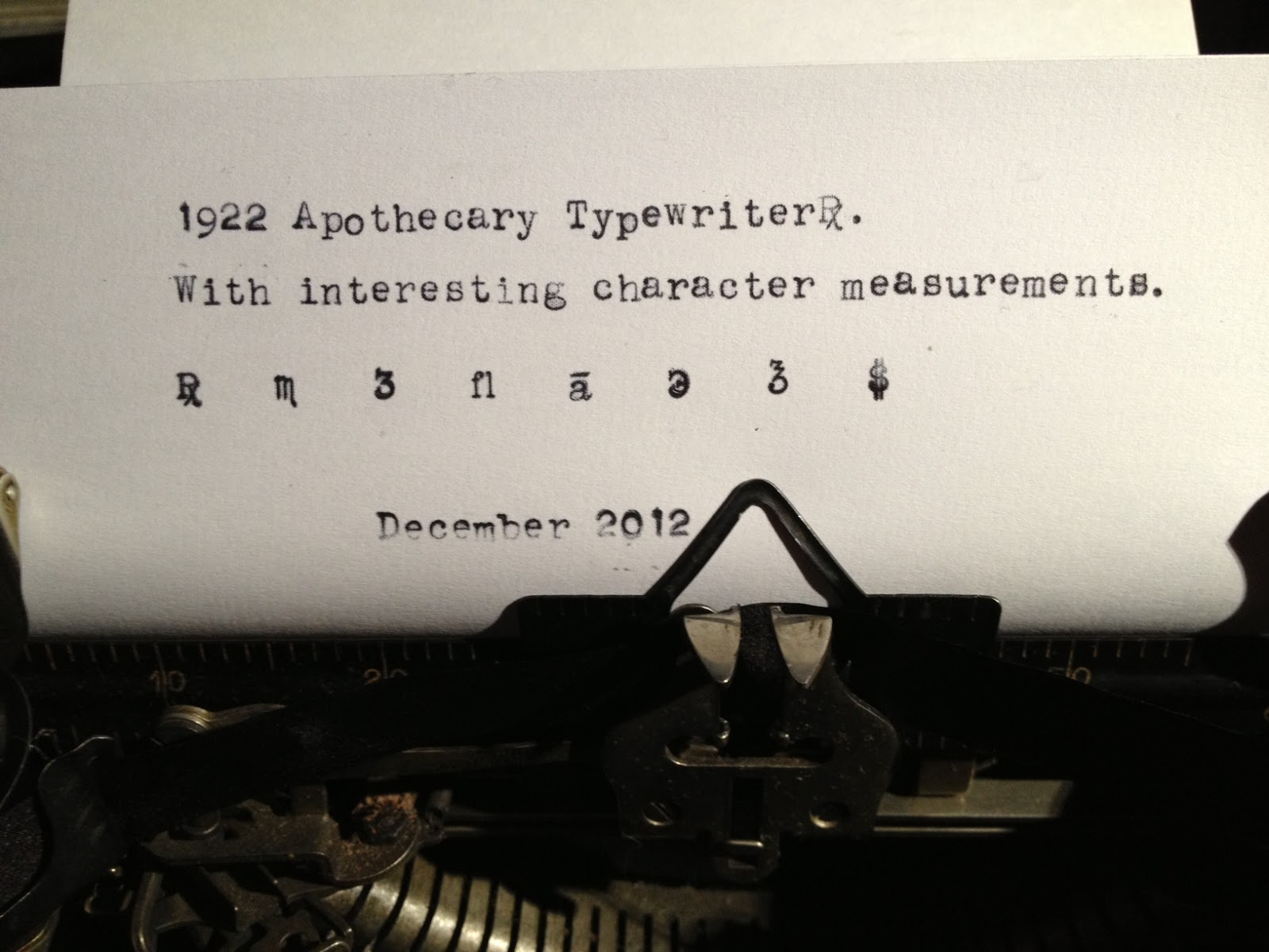 Typewriter With Paper Had typewriters produced
