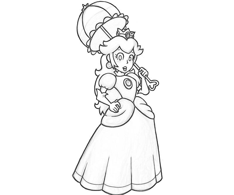 Free Coloring Pages Of Mario And Peach