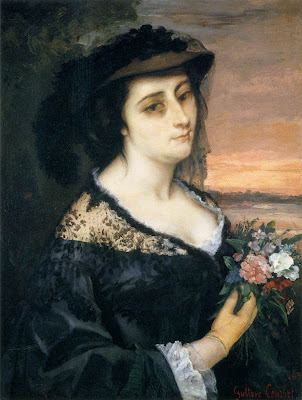 Gustave Courbet - portrait de  Laure Borreau