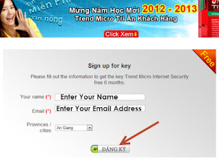 Trend Micro Titanium Internet Security 2013 License Key