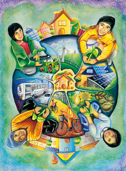 Eyeindian a view on every indian save the earth for Save energy painting