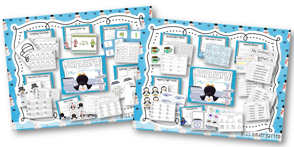 http://www.miss-kindergarten.com/2013/12/january-math-and-literacy-centers.html