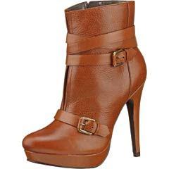 Zapato cerrado botin cafe miel dama modelo 12337