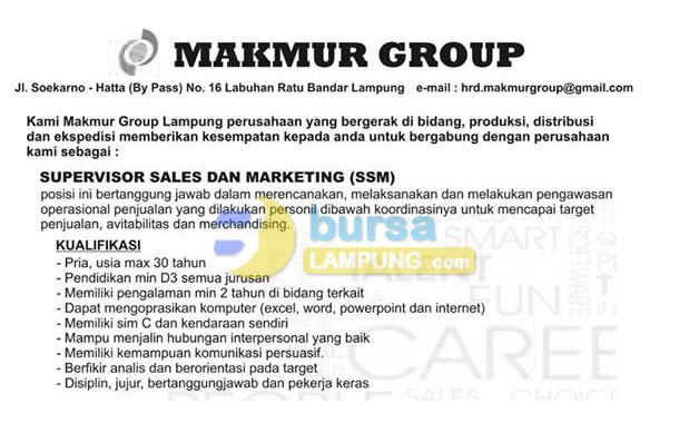 Recruitmen Makmur Group Lampung