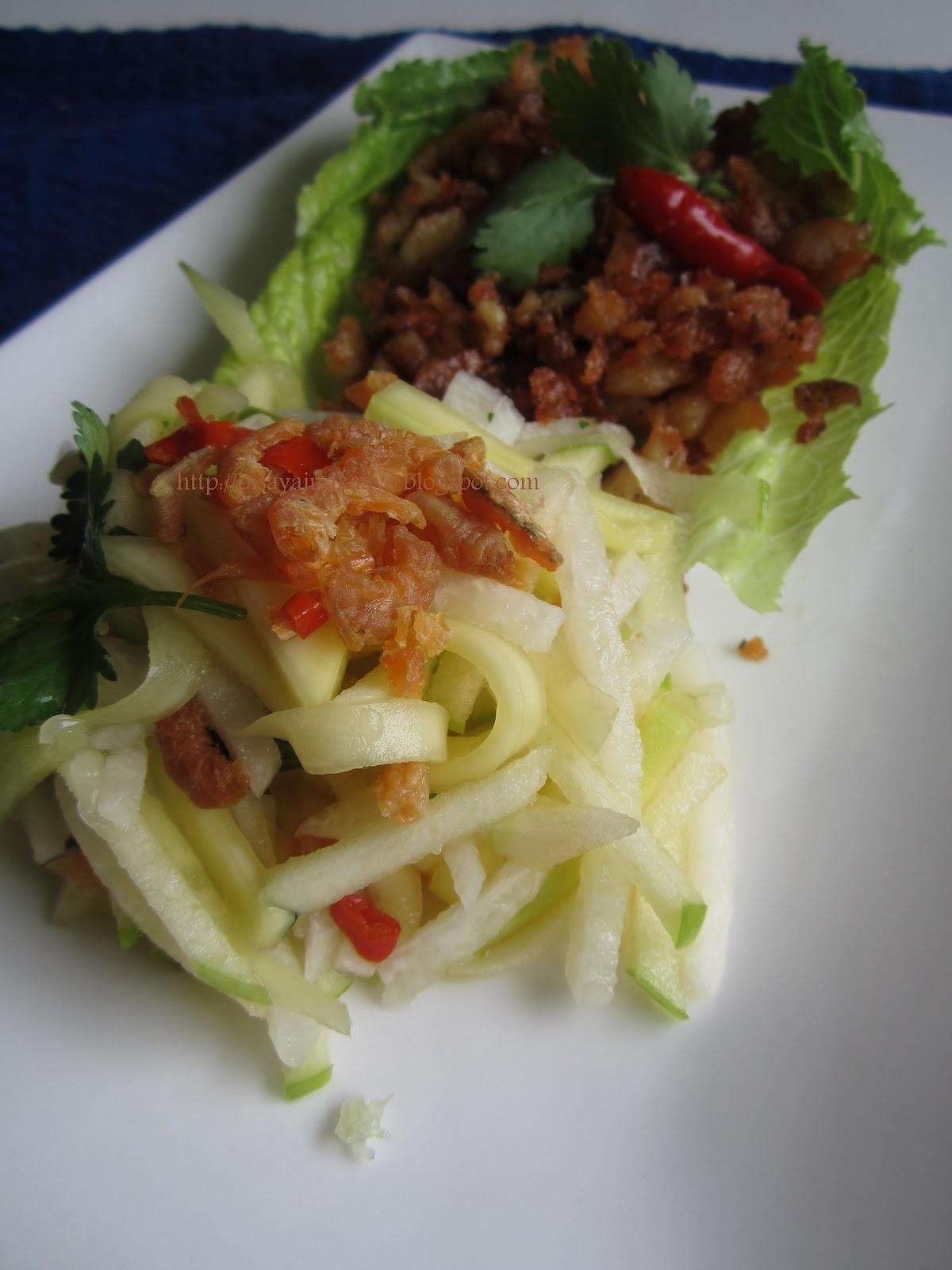 ... and green mango thai food crispy fish with recipe green mango salad
