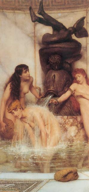 greek fountain,cute girls,adorable girls