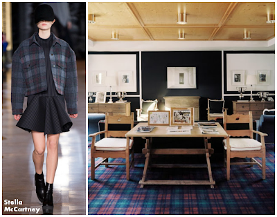 stella mccartney brought into plaid home office in simple and rather traditional style
