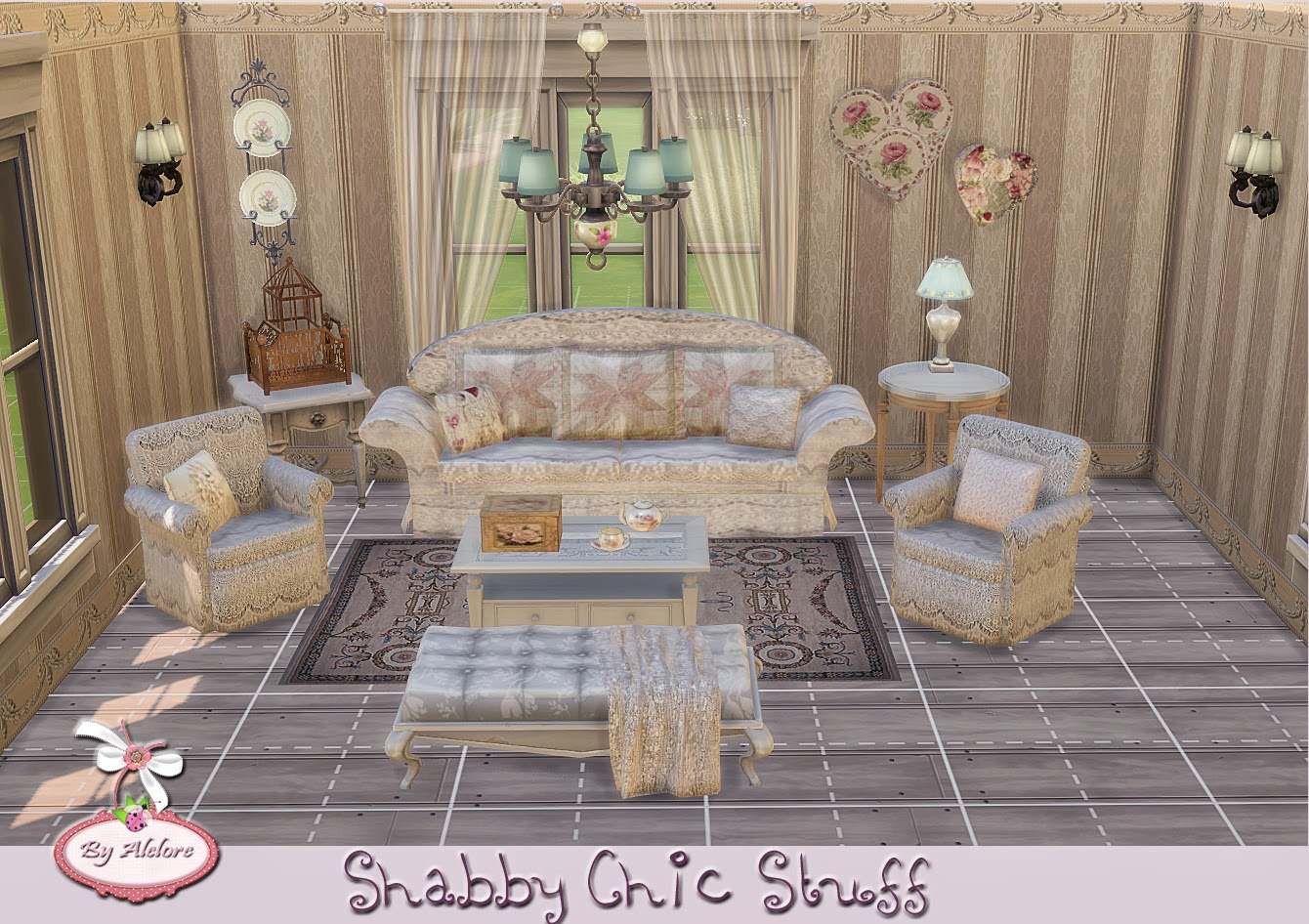 alelore sims blog shabby chic stuff. Black Bedroom Furniture Sets. Home Design Ideas