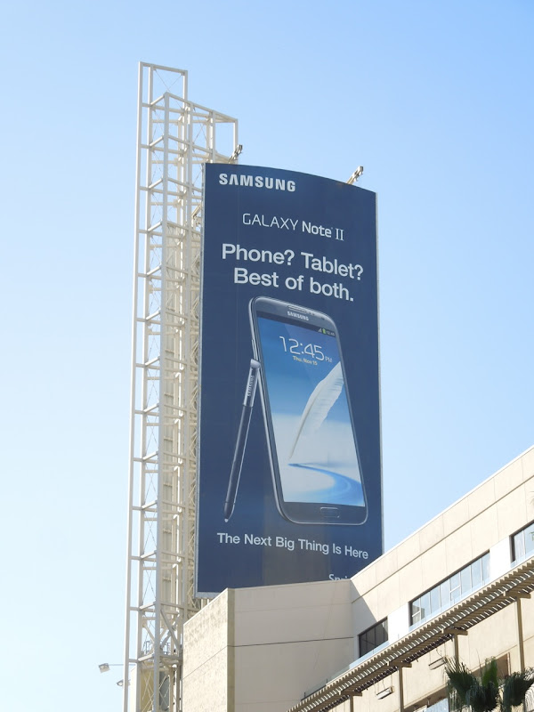 Samsung Galaxy Note II billboard Hollywood
