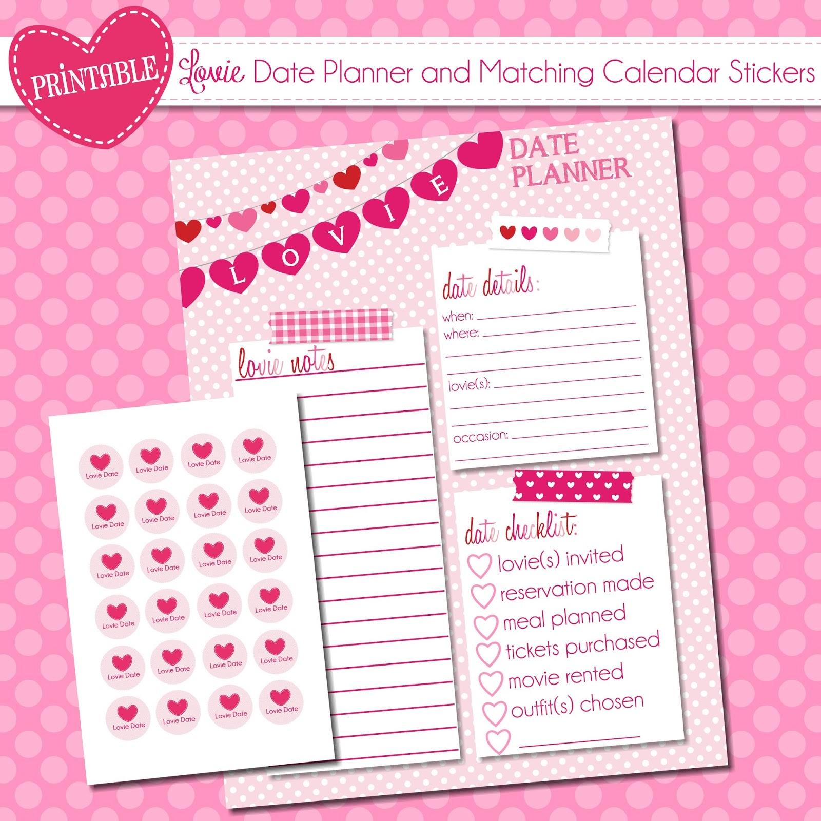 The Polka Dot Posie: We Heart Printables Week {Day 3}: Lovie Date ...