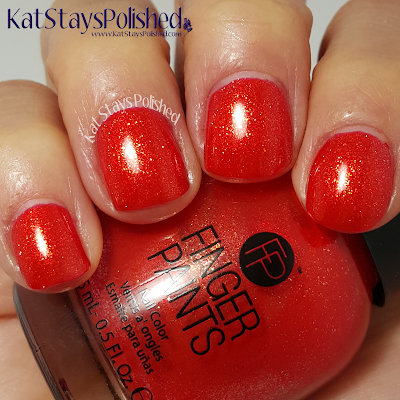 FingerPaints Once in a Wild - Vermillion $ Painting | Kat Stays Polished