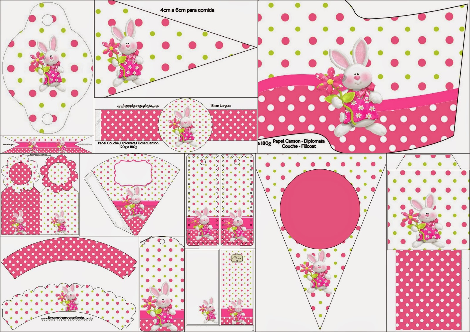 Easter in Pink: Free Party Printables. | Oh My Fiesta! in english