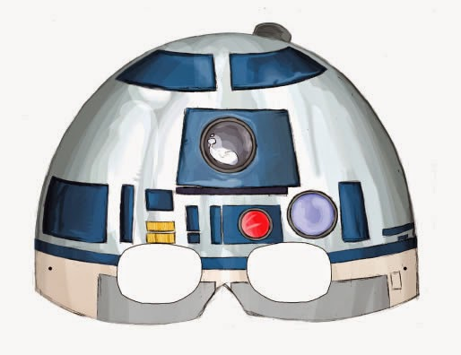 photograph regarding Printable Star Wars Mask called Star Wars Episode I Free of charge Printable Masks. - Oh My Fiesta! inside of
