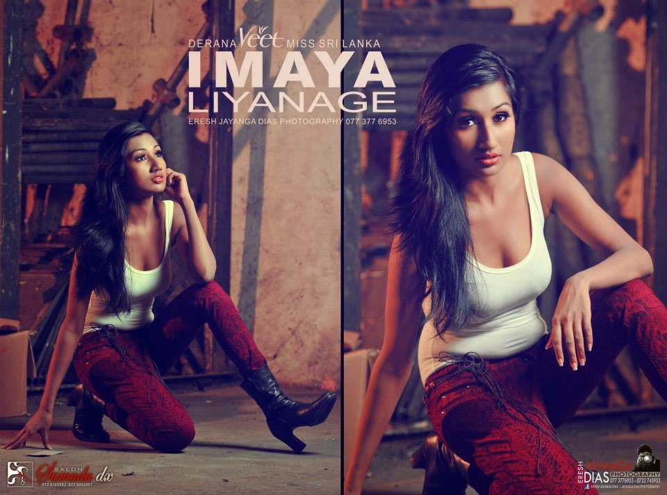 Meevitha Paper Shoot Derana Miss Veet IMAYA Liyanage