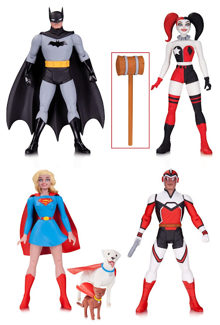 DC Comics Darwyn Cooke Designer Series Wave 1 Action Figures - Batman, Harley Quinn, Supergirl (with Krypto & Streaky the Supercat) & Adam Strange