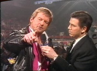 WWF / WWE - In Your House 6 - Rage in the Cage - Todd Pettengill interviews WWF President Roddy Piper