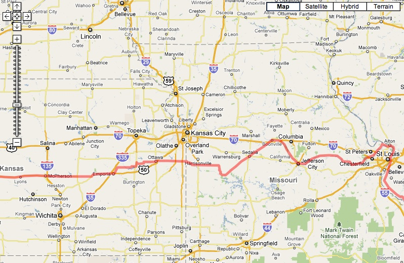 Route From St Louis To Myrtle Beach