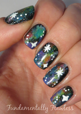 Neon Galaxy Nails with Models Own Ice Neons on Fundamentally Flawless
