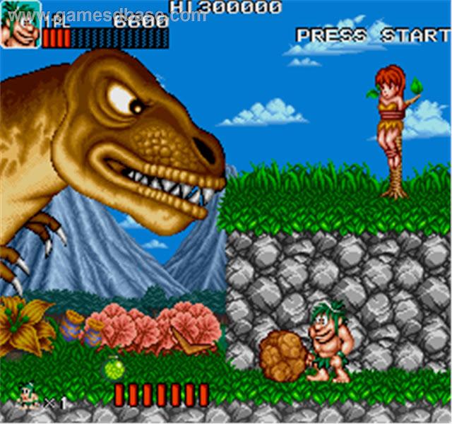 descargar videojuego portable caveman ninja joe & mac