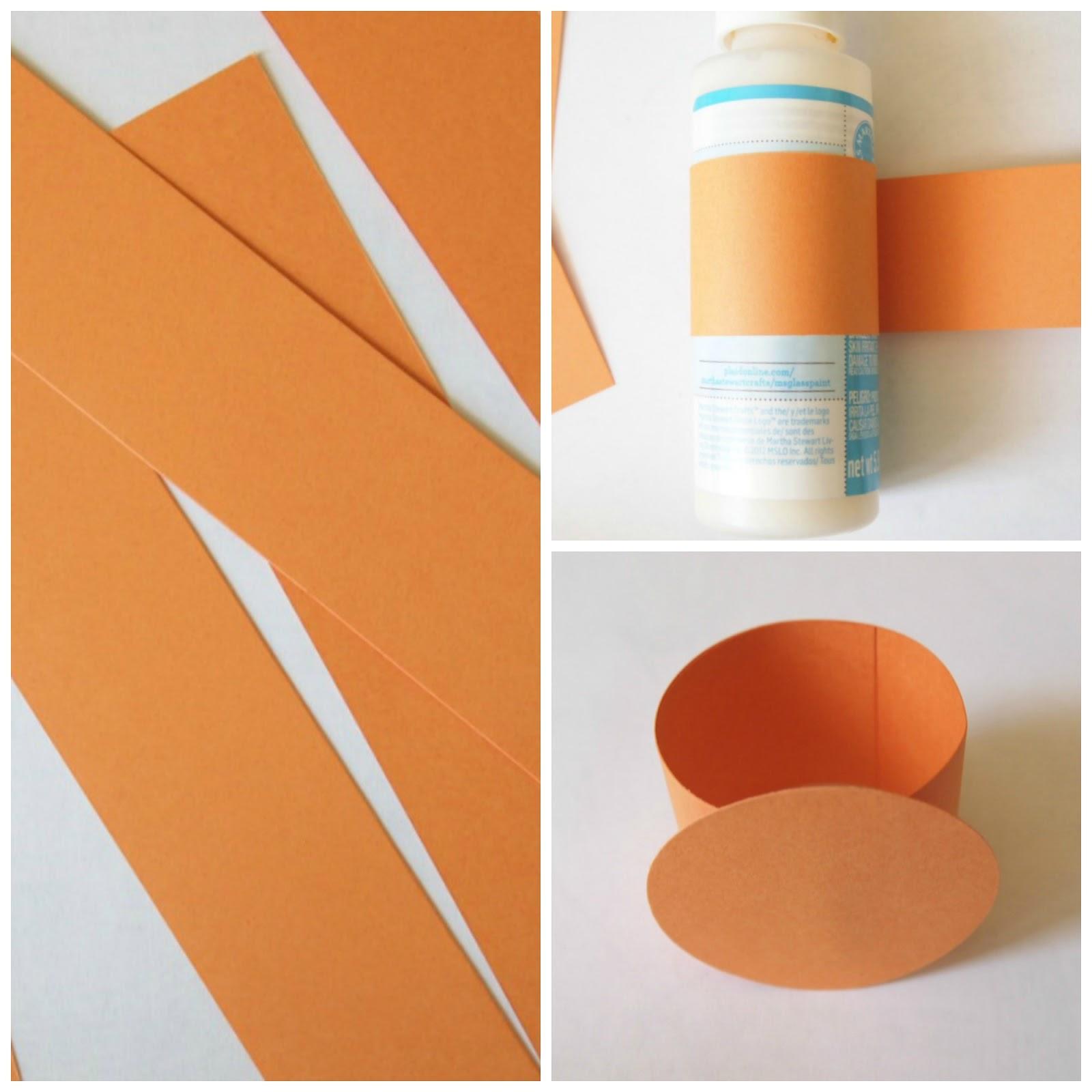 orange fizz paper napkin rings cutcardstock