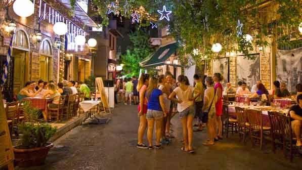 El barrio de Psyrri de Atenas
