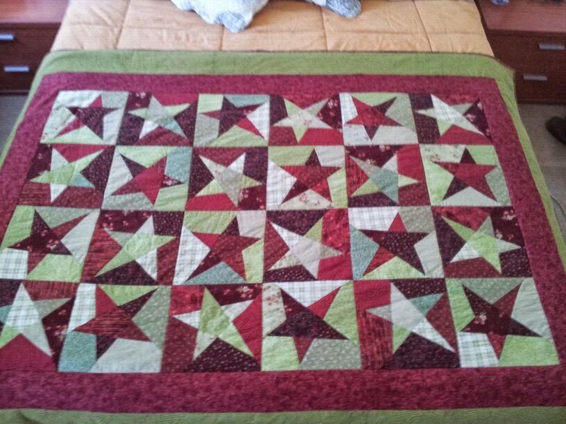 Las cosas de Bu: Manta de estrellas rápida de patchwork