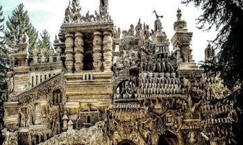 [Photos] Ξόδεψε 33 χρόνια από τη ζωή του για να χτίσει ένα παλάτι από... βότσαλα