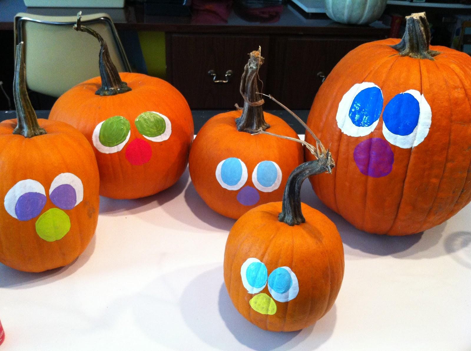 Our Garden Path Painting Pumpkin Faces
