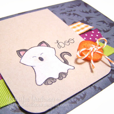 Ghost Kitty Halloween Card using Boo Crew Stamp set