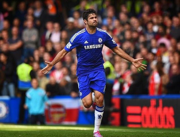 Agen Bola Terpercaya - Dieogo Costa, sudah menunjukan bahwa dia adalah salah satu penyerang yang haus akan gol. Hal itu ia tunjukan dalam performa apiknya diawal musim ini. Bergabung dalam klub kaya raya, Chelsea, pemain asal Spanyol itu sudah menyumbang 10 gol dari sembilan pertandingannya dimusim ini.