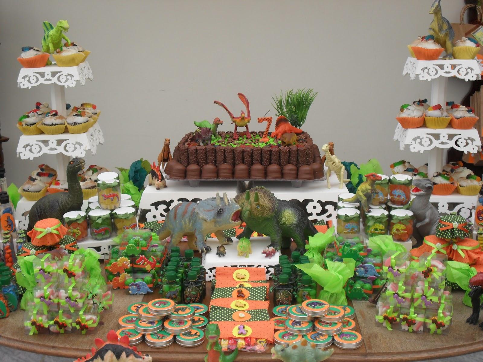 Rosi doçuras Decoraç u00e3o festa dinossauro -> Decoraçao De Dinossauro Para Festa Infantil