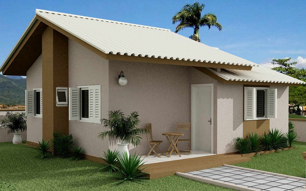 Crie o h bito de ser feliz o n mero da sua casa for Modelos de casas pequenas y bonitas
