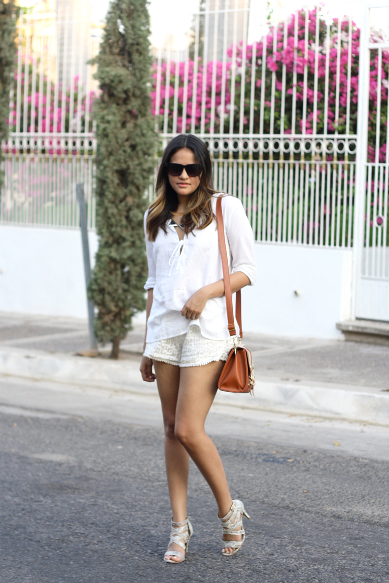 total white outfit