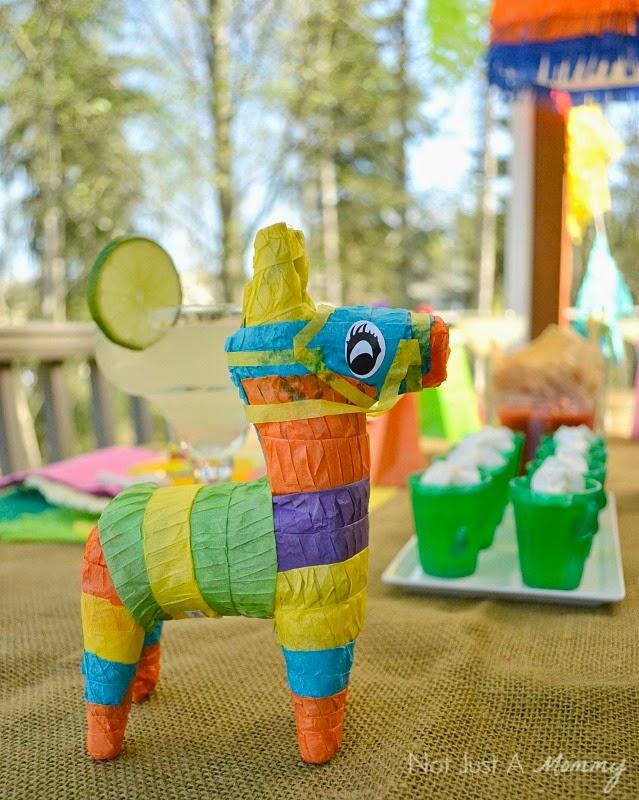 Cinco De Mayo party table mini pinatas