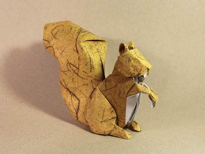 origami tupai